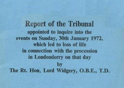 Widgery Report cover