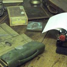 Conrad's writing desk by Ben Sutherland