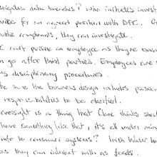 Handwritten notes of HSE DPC meeting