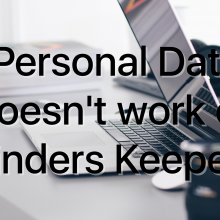 Personal Data Doesn't work on Finders Keepers