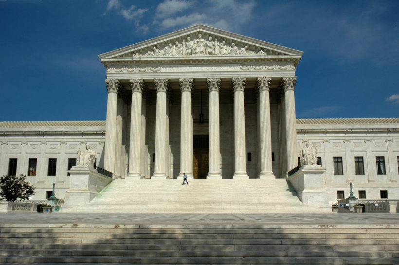US Supreme Court building from the front portico